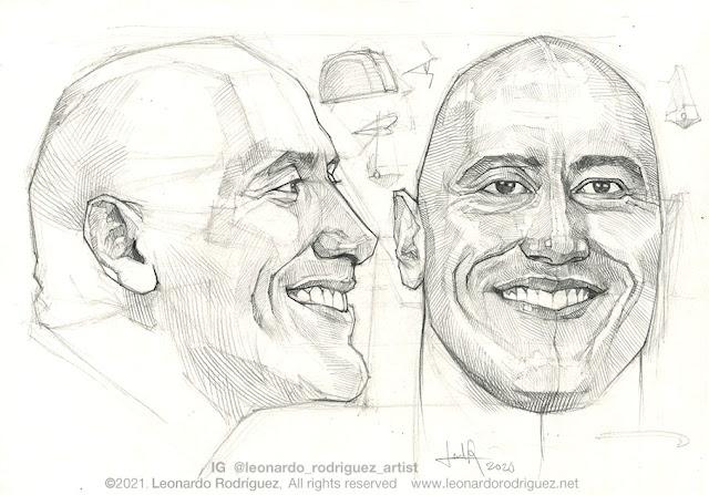 dwayne-johnson-by-leonardo-rodriguez-drawing