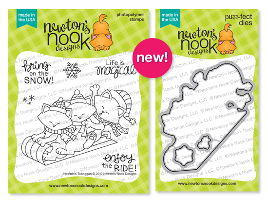 Newton's Toboggan Stamp Set and Die Set by Newton's Nook Designs #newtonsnook