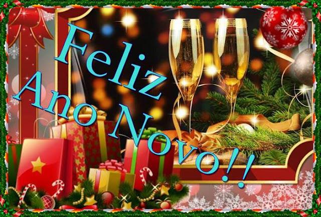 Cartões postais de Feliz Ano Novo