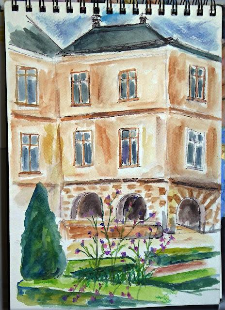 Art de vivre la peinture de peintrefiguratif croquis au for Au jardin paris