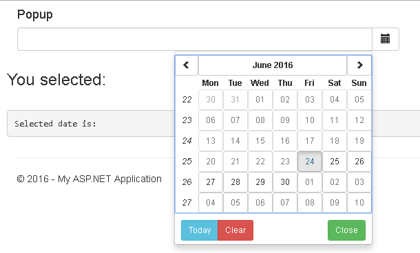 Implementing DatePicker using Angular UI in MVC5
