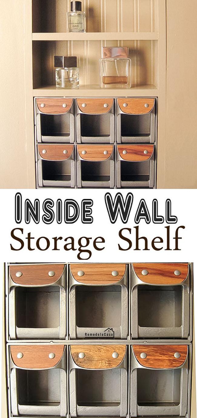 Kids room storage - Closet makeover
