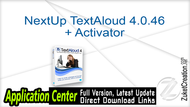NextUp TextAloud 4.0.46 + Activator