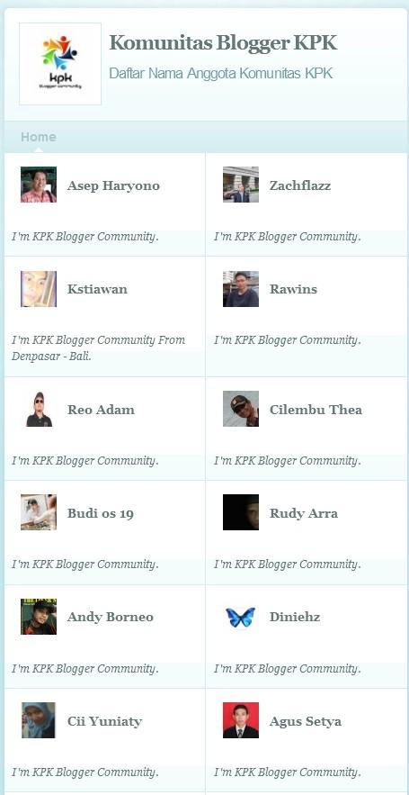 Gabung di Komunitas  Blogger KPK