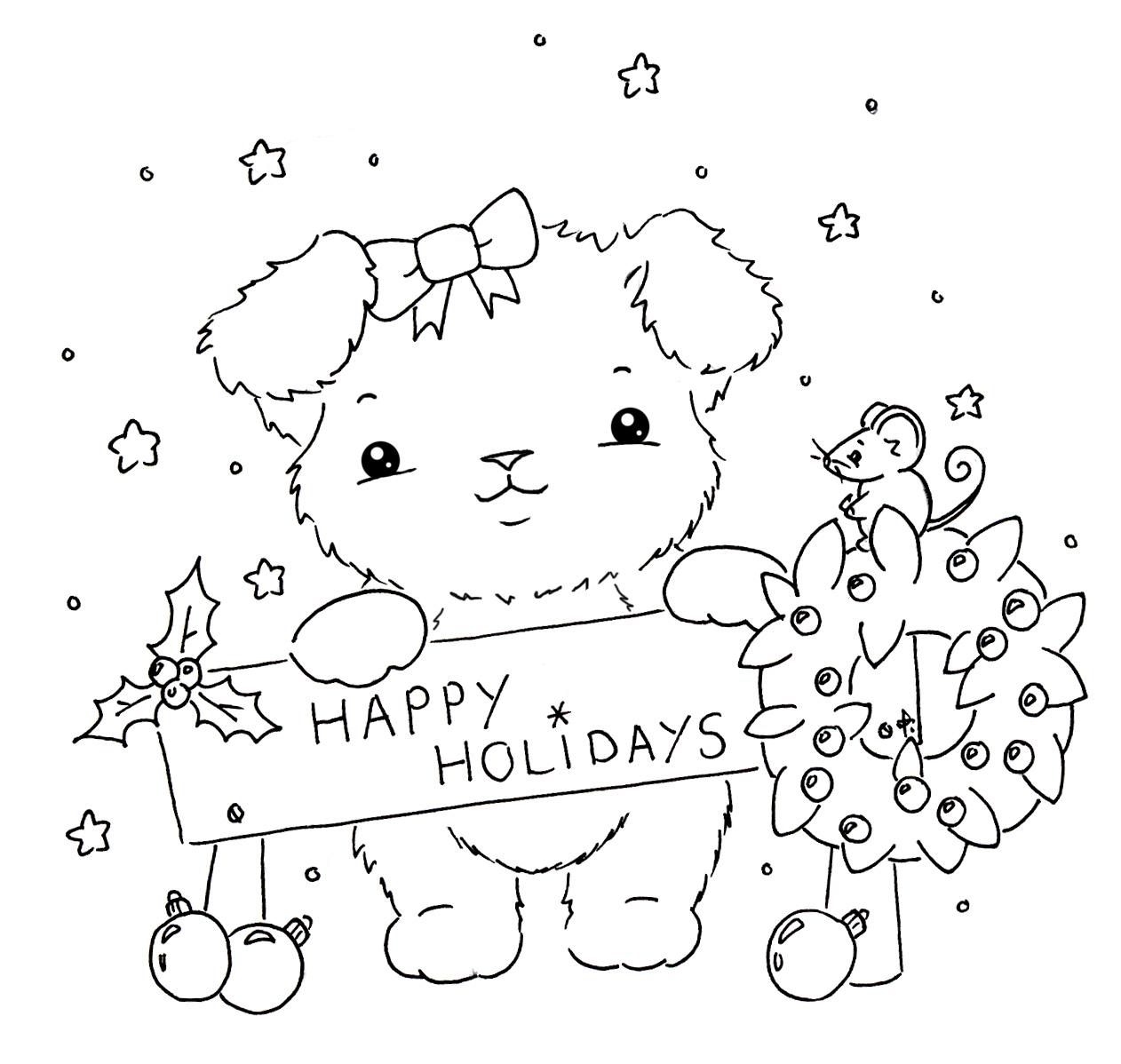 Sliekje Digi Stamps Christmas Puppy