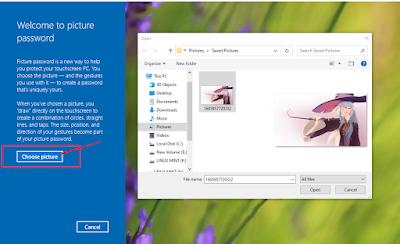 choose picture untuk memilih gambar windows security picture