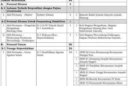 Formasi CPNS Kabupaten Agam 2019