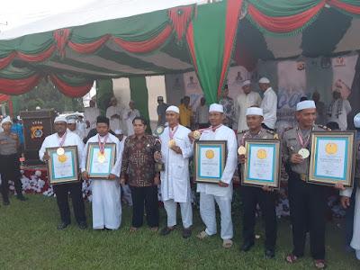 Dzikir Caleg dan Masyarakat, Kapolres Aceh Utara Raih Penghargaan LEPRID