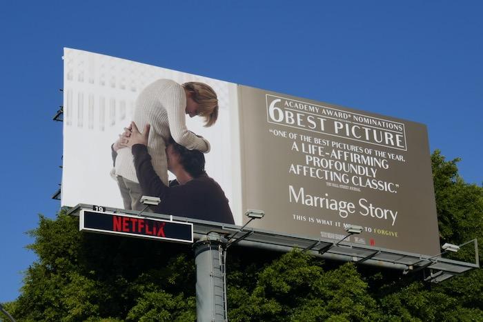 Marriage Story Academy Award nominee billboard
