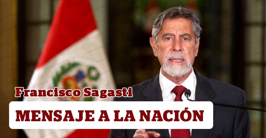 MENSAJE A LA NACIÓN: Mensaje Presidencial de Francisco Sagasti (26 Enero 2021)