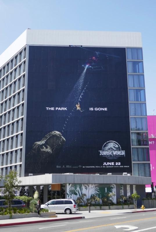 Jurassic World Fallen Kingdom billboard