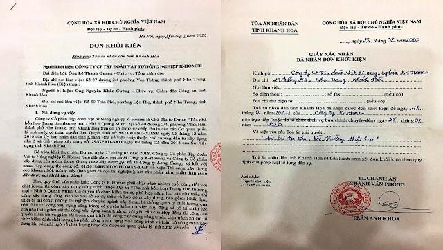 Giám đốc Công an tỉnh Khánh Hòa bị Công ty K-Homes kiện đòi bồi thường trên 103 tỷ đồng