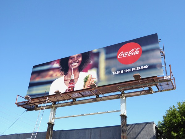 CocaCola Taste the feeling billboard