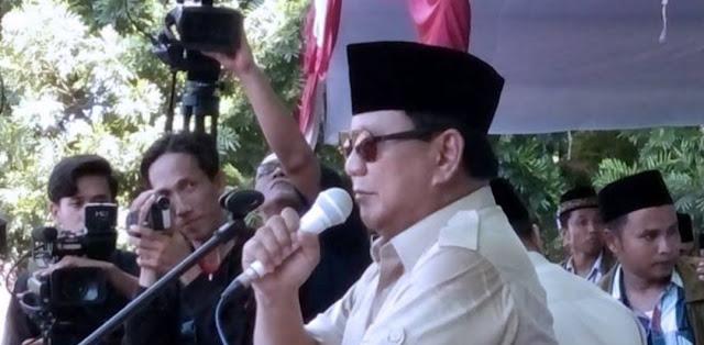 Prabowo Mengaku Masuk dalam Satu Persen Rakyat Indonesia yang Menguasai Kekayaan Bangsa
