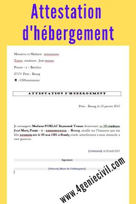 Attestation d'hébergement : modèle de lettre PDF et WORD
