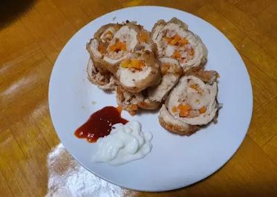 resep masakan bikin Masakan Ayam lapis udang, simak baik-baik ea.