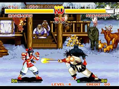 Haomaru vs Nakoruru in Samurai Shodown arcade