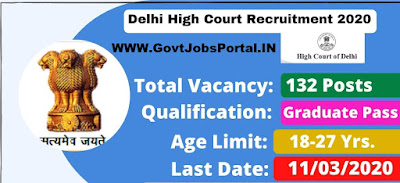 Delhi High Court Jr. Judicial Assistant Vacancy 2020