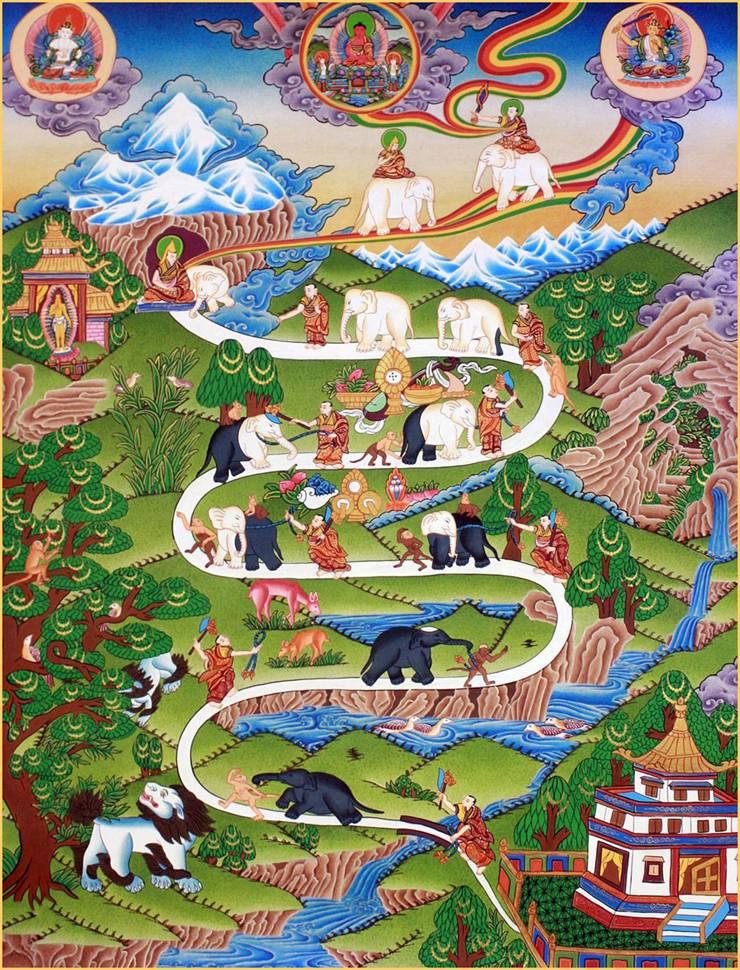 Resultado de imagen de mono elefante meditar