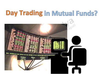 Picture shows a person attempting to trade in mutual funds