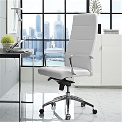Fashionable White Leather Home Office Chair