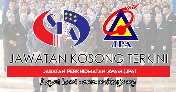 Jawatan Kosong Terkini 2018 di Jabatan Perkhidmatan Awam (JPA)