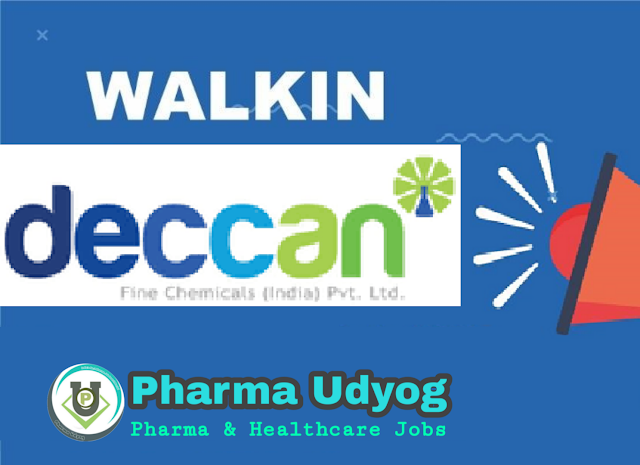 Deccan Fine Chemicals | Walk-in for Freshers & Expd in R&D on 24th Jan 2021