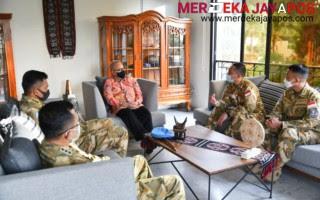 Satgas MTF TNI XXVIII-L/Unifil Pamitan Dengan KBRI Lebanon