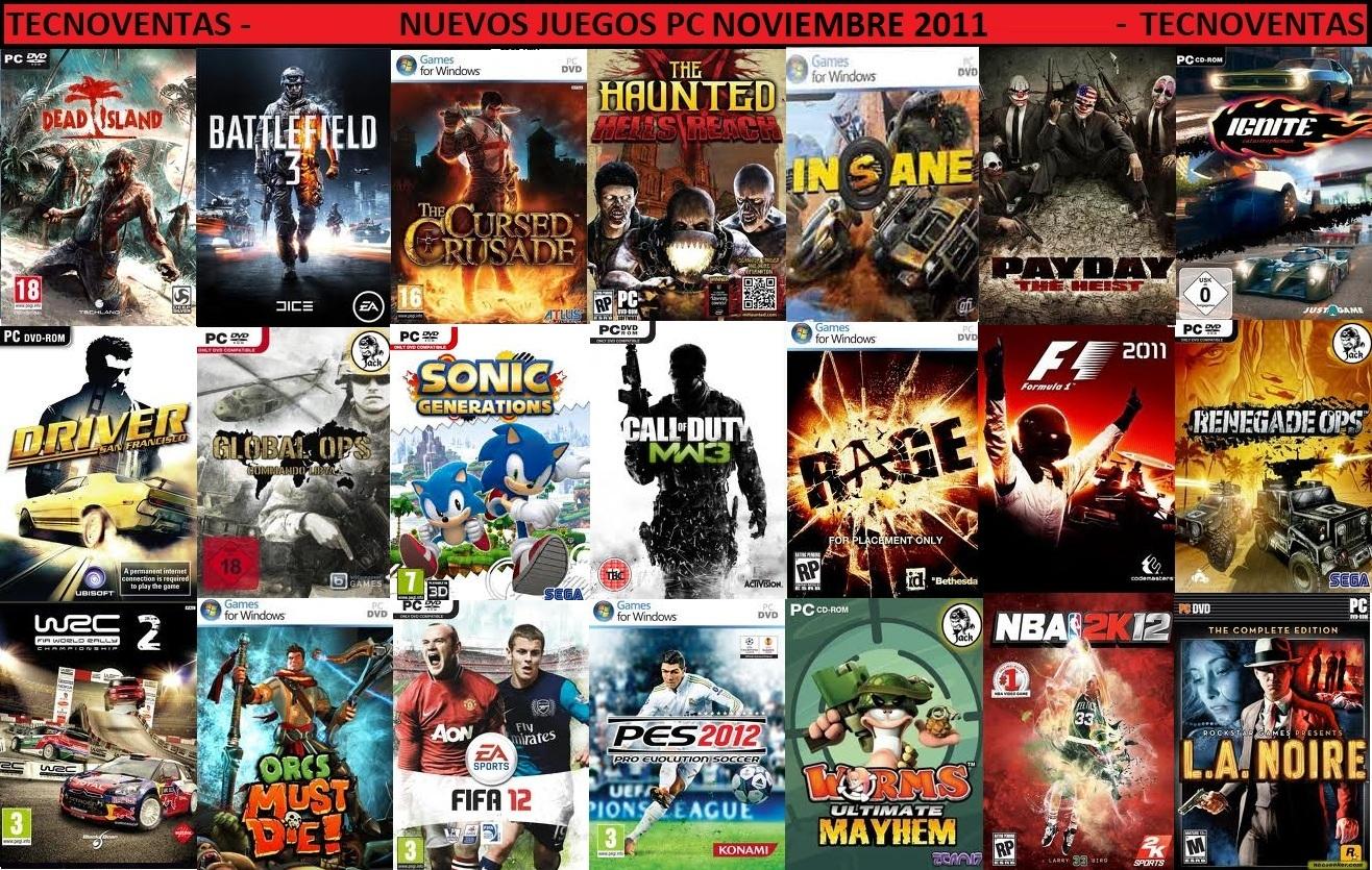 Guillermo Tecnoventas: Lista actualizada de Juegos para PC  Guillermo Tecno...