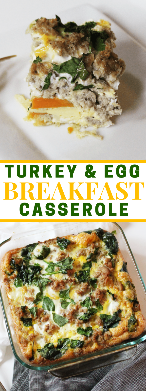 Turkey & Egg Breakfast Casserole #paleo #breakfast