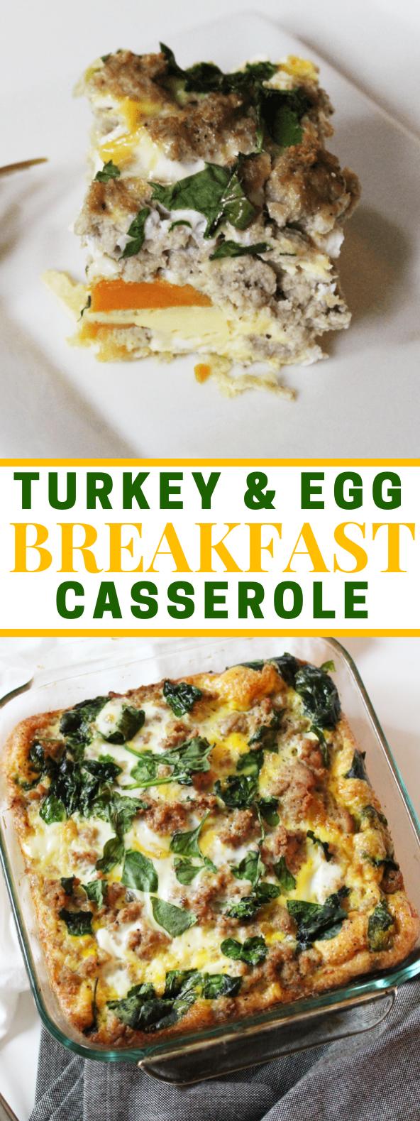 Turkey & Egg Breakfast Casserole #paleo #breakfast
