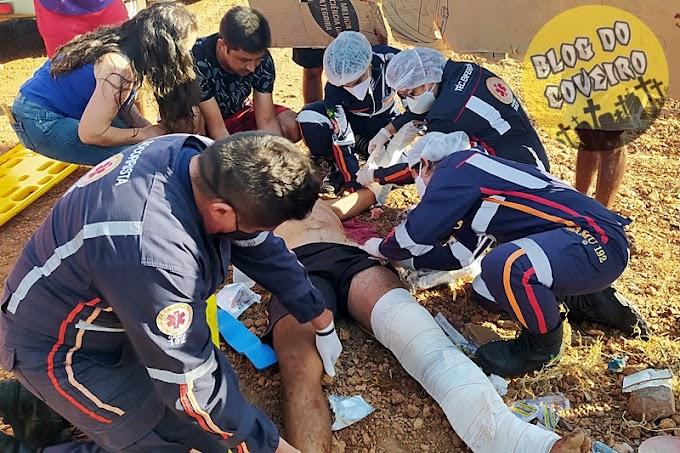 Motociclista fica gravemente ferido ao ser colhido por automóvel em Cocal-PI