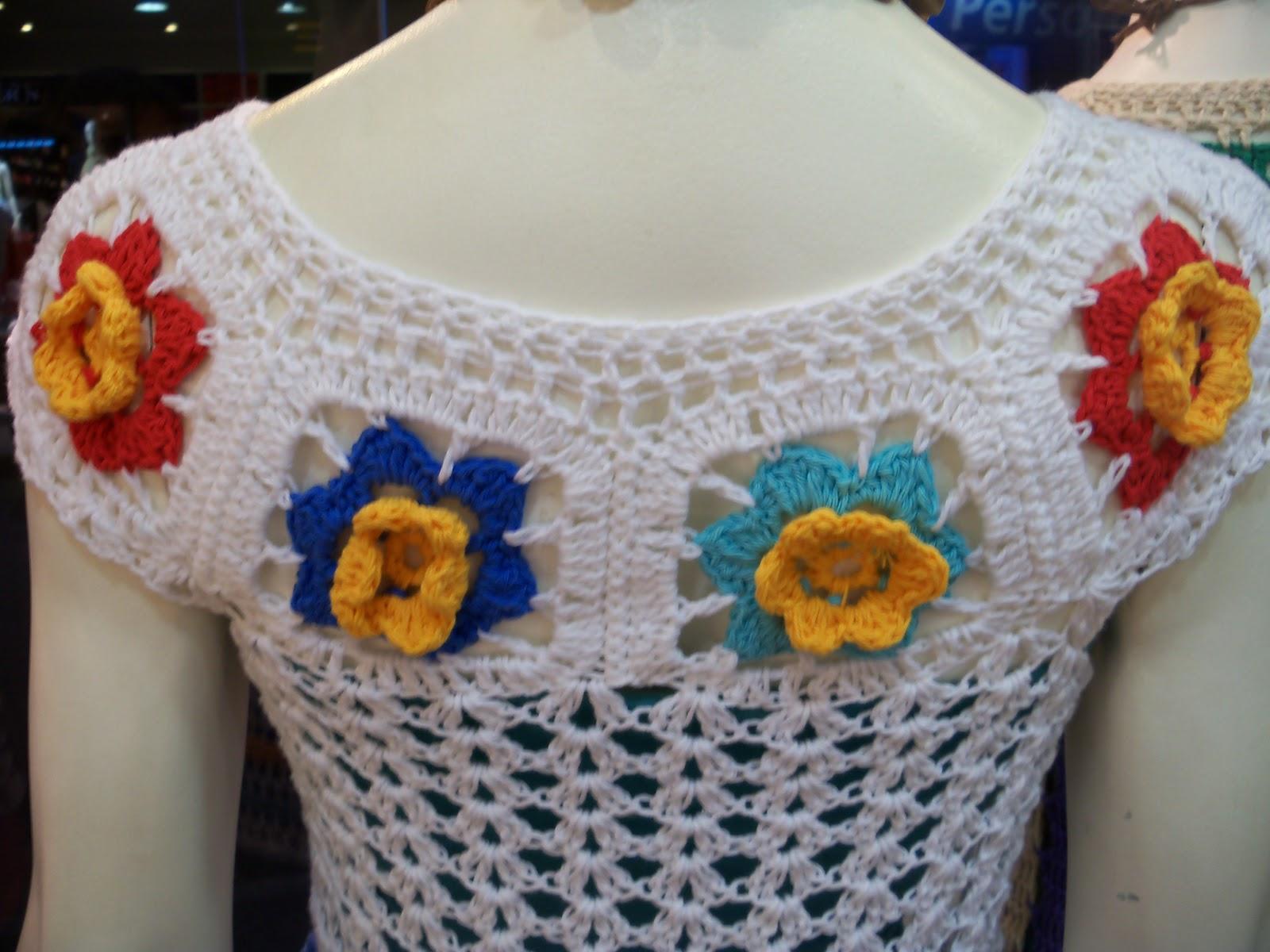 tejemos con mariela remeras en crochet a todo color. Black Bedroom Furniture Sets. Home Design Ideas