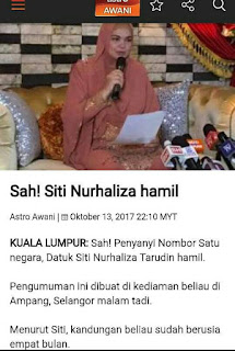 Tahniah! Siti Nurhaliza Hamil