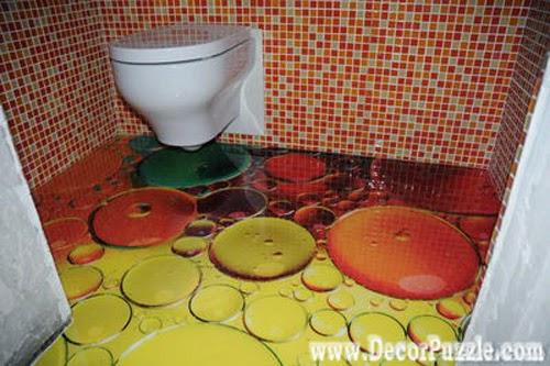 3d bathroom floor murals designs, self-leveling floors for small bathroom flooring ideas