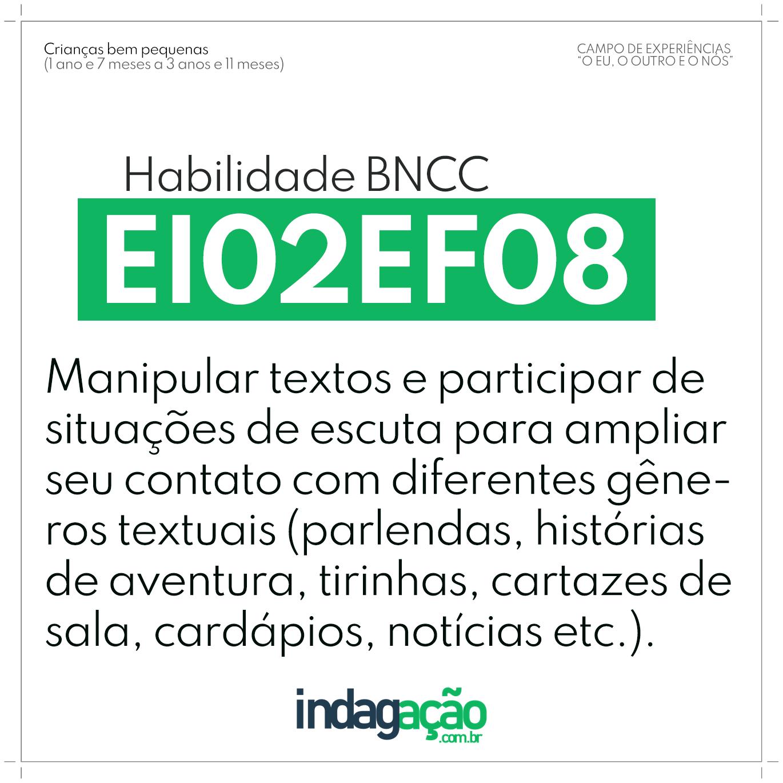 Habilidade EI02EF08 BNCC