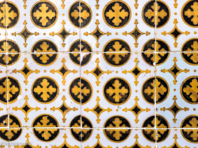 the classic tiles in Lisbon, Portugal