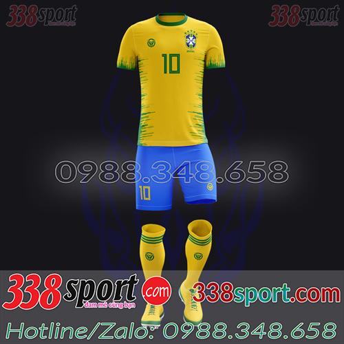 Áo Đội Tuyển Brazil Đặt May Theo Yêu Cầu - Mã BRAZIL 01
