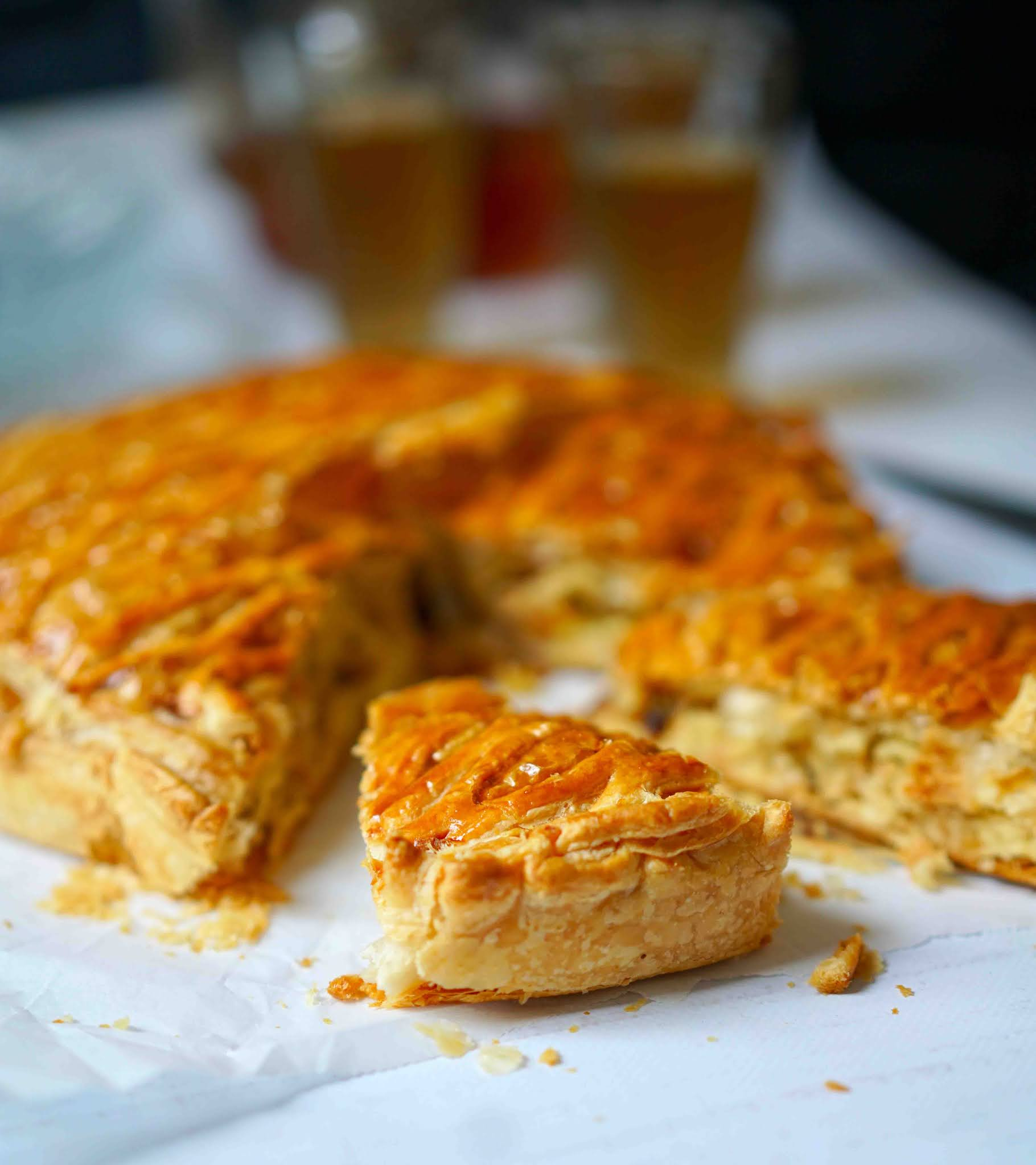 amandes , ecorce d'orange , galette