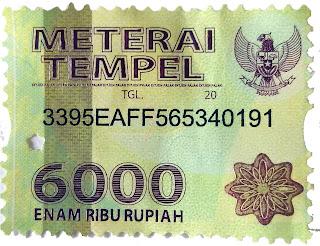 Meterai 6000