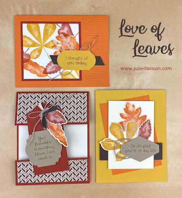 Stampin' Up! Love of Leaves Card Kit ~ Aug-Dec 2020 Mini Catalog ~ www.juliedavison.com #stampinup #autumn