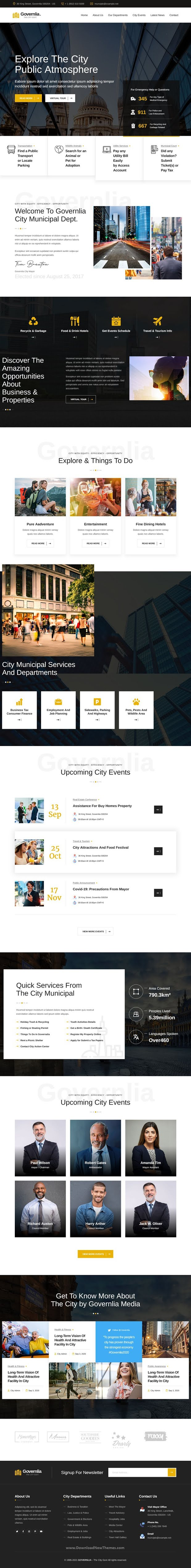 Political and Government HTML Template