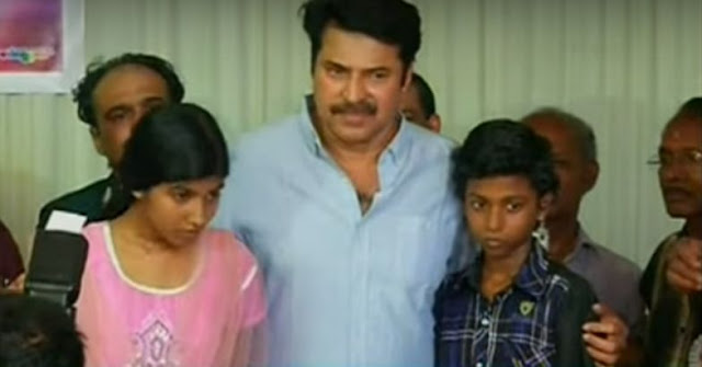 Actor Mammootty Helps Fire Works Mishap Victims in Paravoor.