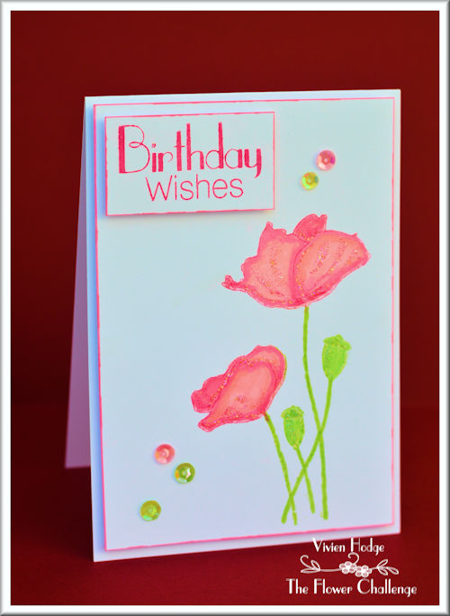 Poppies, Flower Challenge, Penny Black, CAS