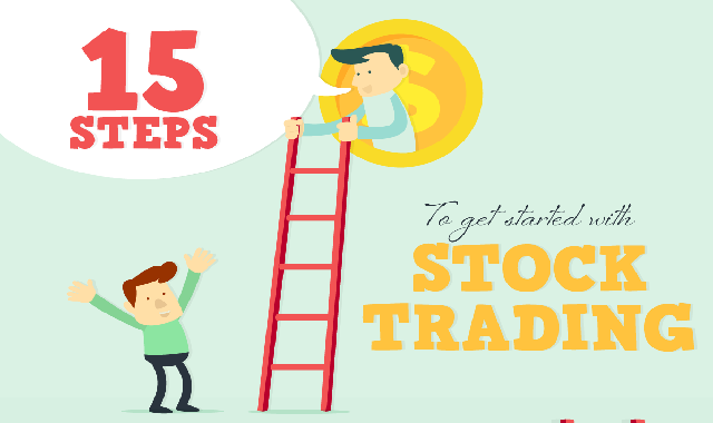 15 Steps To Get Started With Stock Trading #infographic