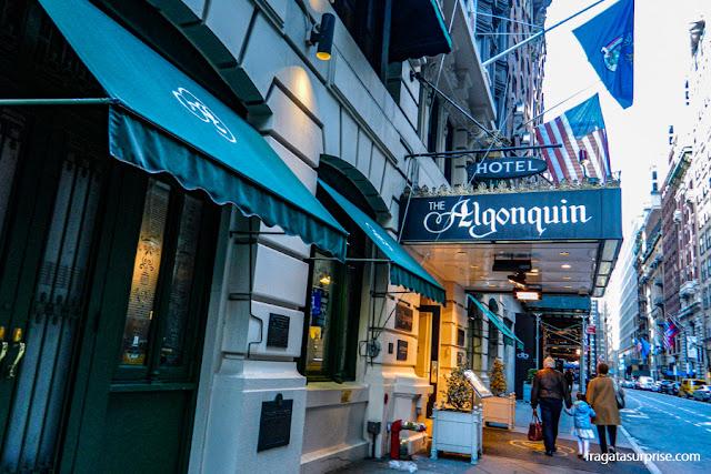 Hotel Algonquin, na Rua 44 Oeste, Nova York