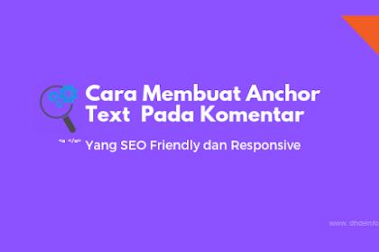 Cara Membuat Anchor Text  Pada Komentar Yang SEO Friendly dan Responsive