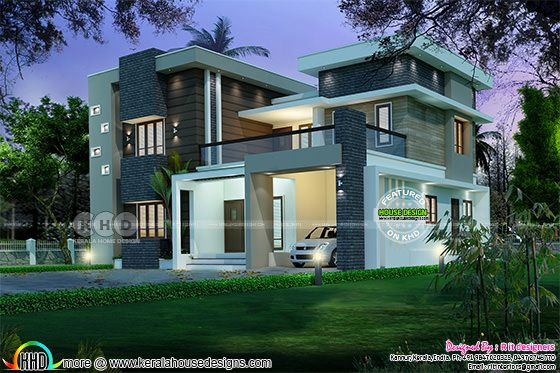 Modern contemporary Kerala home 2352 sq-ft