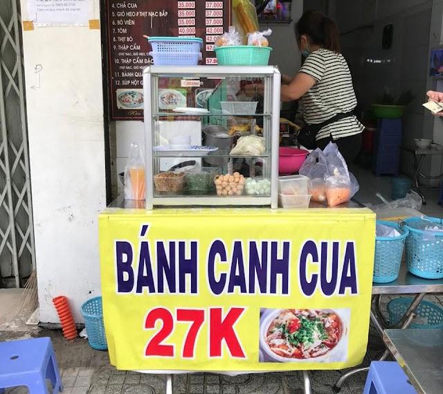 Địa chỉ quán Bánh canh cua 27k: số 720 CMT8, Phường 5, Quận Tân Bình