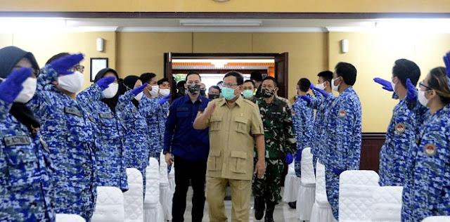 Dukung Penanganan Covid-19, Menhan Prabowo Kerahkan 293 Relawan Medis